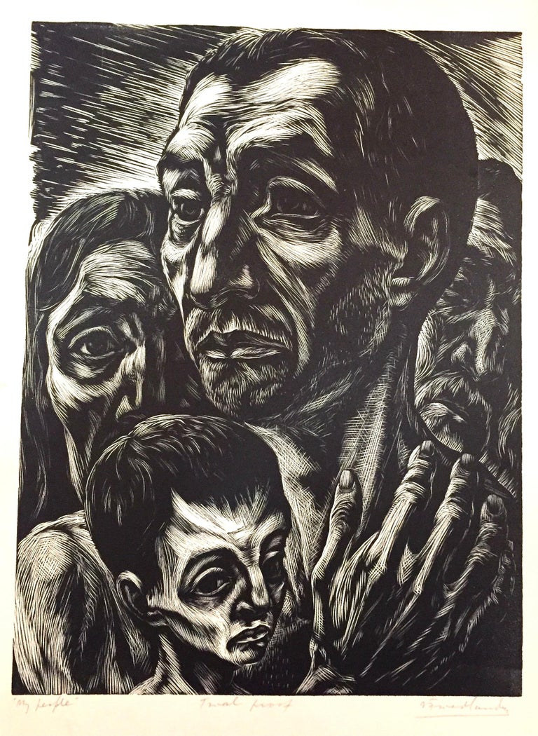 Isaac Friedlander Figurative Print - My People