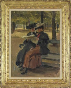Oil painting by Isaac Israëls titled Bois de Boulogne