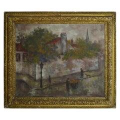 Isaac Lichtenstein, Paris Street Scene, 1924