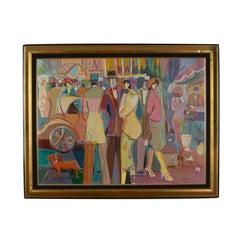 "Isaac Maimon Oil on Canvas ""Friske Flowers""  40"" x 30"""