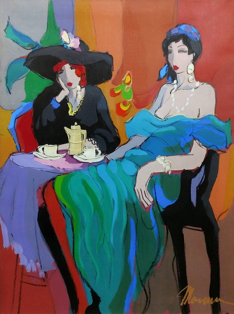 Isaac Maimon Portrait Painting - CAFE BARCELONA