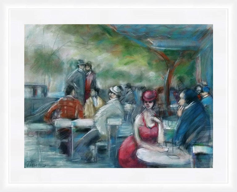 UNTITLED (CAFE SCENE) - Art by Isaac Maimon