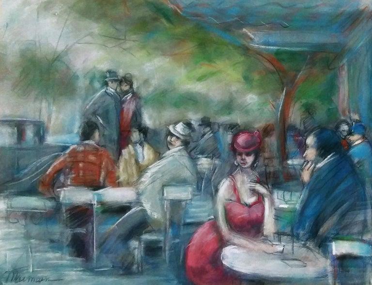 Isaac Maimon Portrait - UNTITLED (CAFE SCENE)