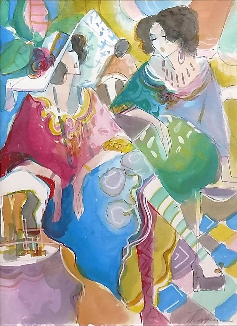 UNTITLED (WOMEN) - Contemporary Mixed Media Art by Isaac Maimon