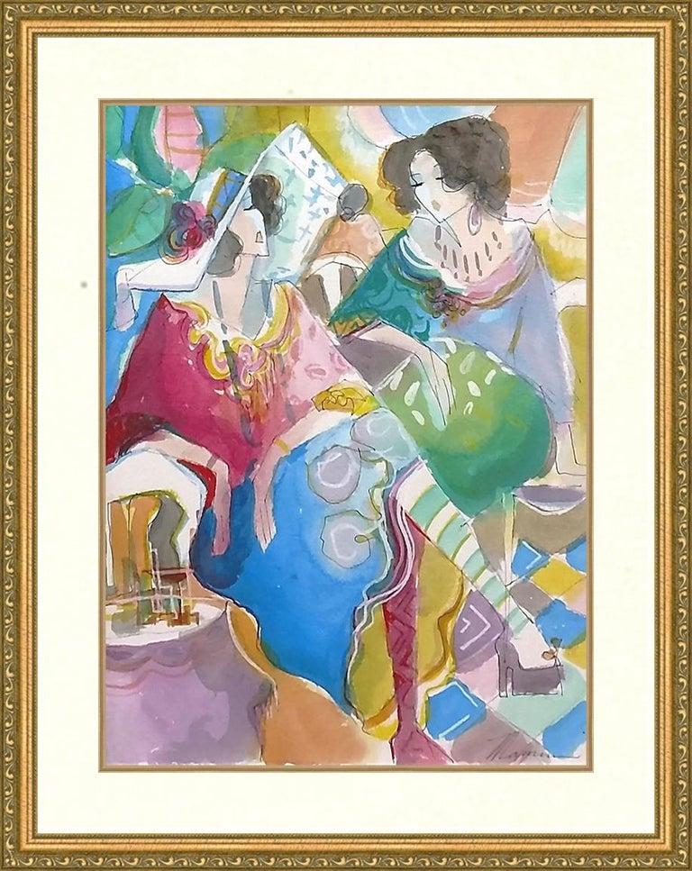 UNTITLED (WOMEN) - Mixed Media Art by Isaac Maimon
