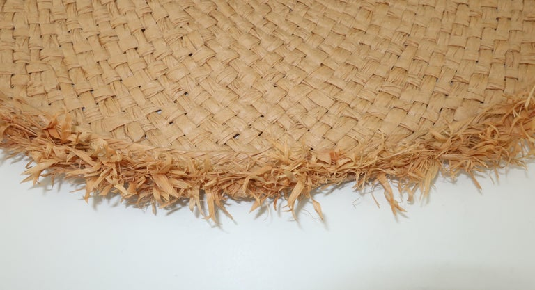 Isaac Mizrahi Wide Brimmed Straw Beach Hat For Sale 5