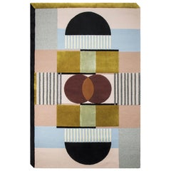 Isaac Multi-Color Area Rug in Hand-Tufted Natural Wool & Botanical Silk