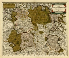 Antique map of Brabant and Limburg by Tirion - Handcoloured engraving - 18th c.