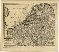 Nieuwe en Nauwkeurige kaart der XVII Provincien van Nederland.