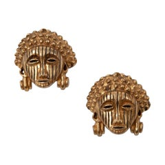 Isabel Canovas Congolese Yeke Clip-On Earrings