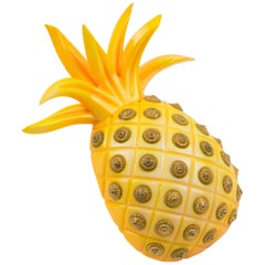 Isabel Canovas Paris Oversized Yellow Pineapple Resin Pin Brooch