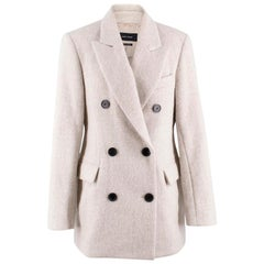 Isabel Marant Alpaca Wool-blend Double Breasted Coat FR 38