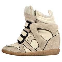 efcabd31c31 Isabel Marant Blush Pink Suede Bessy High Top Sneakers Size 38 For ...