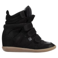 Isabel Marant Bekett Black High-Top Sneakers - Size 37