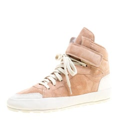 Isabel Marant Blush Pink Suede Bessy High Top Sneakers Size 38