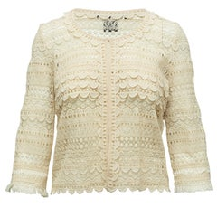 Isabel Marant Cream Lace Sheer Jacket
