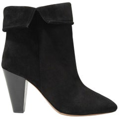 Isabel Marant Darilay Fold Over Suede Ankle Boots