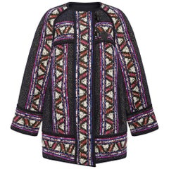 Isabel Marant Driest Tribal Paneled Wool-Blend Jacket