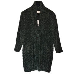 Isabel Marant Etoile Green Faux Fur Adams Coat Sz FR 42 NWT