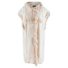 Isabel Marant Fringed Cotton Blend Sleeveless Hooded Jacket S 38