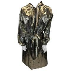 Isabel Marant Gold Metallic Long Jacket NWT