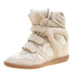 Isabel Marant Grey Suede Bekett Wedge Sneakers Size 41