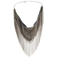 Isabel Marant Linares Handkerchief Gold Tone Bib Necklace