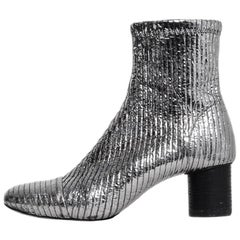 Isabel Marant Metallic Stretch Leather Dasy Boots sz 39 rt $840