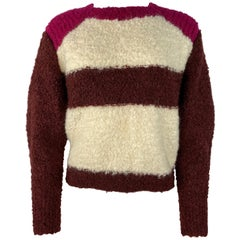 Isabel Marant Multicolor Mohair Pullover Sweater, Size 38