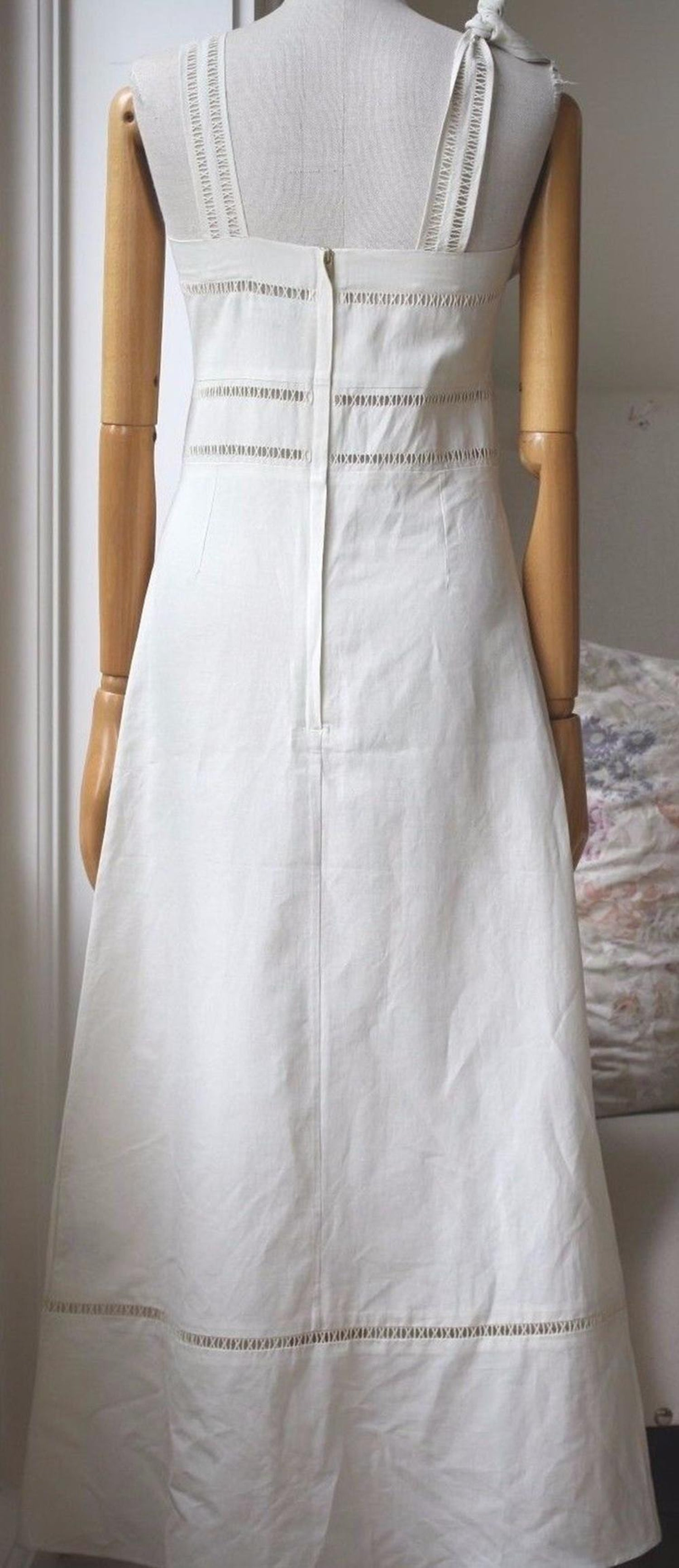 acd73b354bc Isabel Marant Reign Linen and Cotton-Blend Dress For Sale at 1stdibs