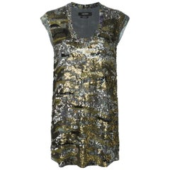 Isabel Marant Sequined Silk-Georgette Sleeveless Top