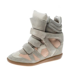 Isabel Marant Two Tone Bekett Wedge Sneakers Size 39