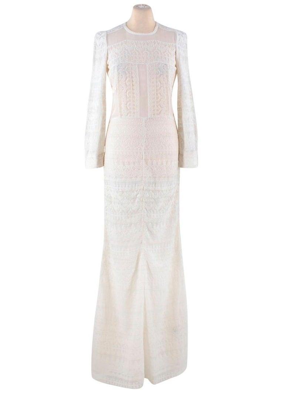 452d1262035 Isabel Marant White Maxi Dress -Bohemian white maxi dress with geometric  print -Dress consists