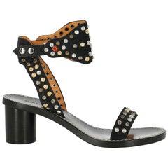 Isabel Marant Woman Sandals Black Leather IT 36