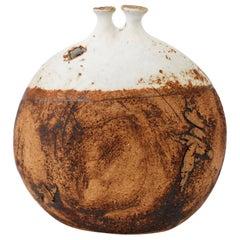 Isabel Parks Ceramic Vessel or Weed Pot Signed Parks Hickory Grove Studios