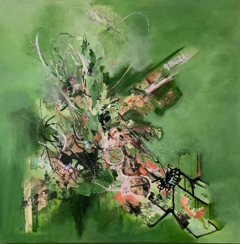 Isabel Turban Abstract Painting - Awakening Green
