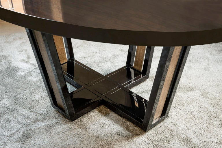 Modern Isabella Costantini, Italy, Cleofe Oval Dining Table For Sale