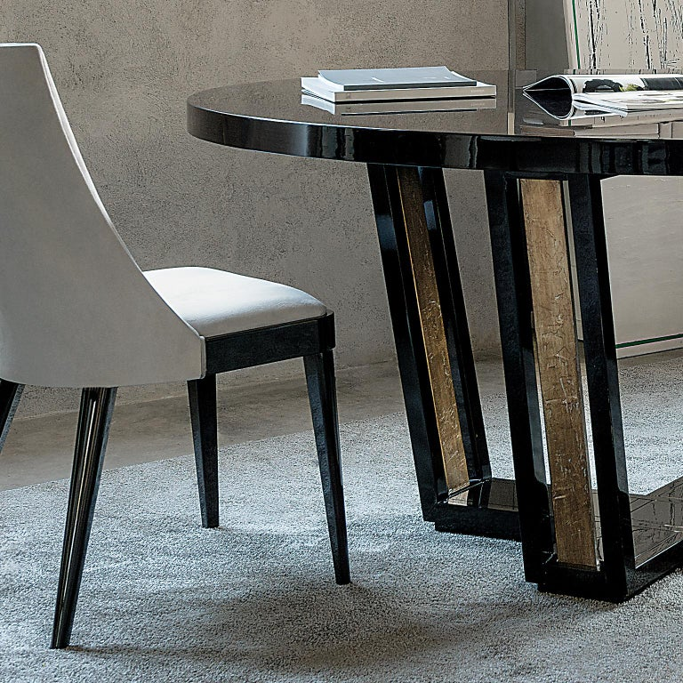 European Isabella Costantini, Italy, Cleofe Oval Dining Table For Sale