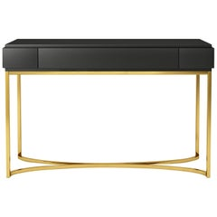 Isabella Costantini, Italy, Damiano Console with Brushed Brass Base