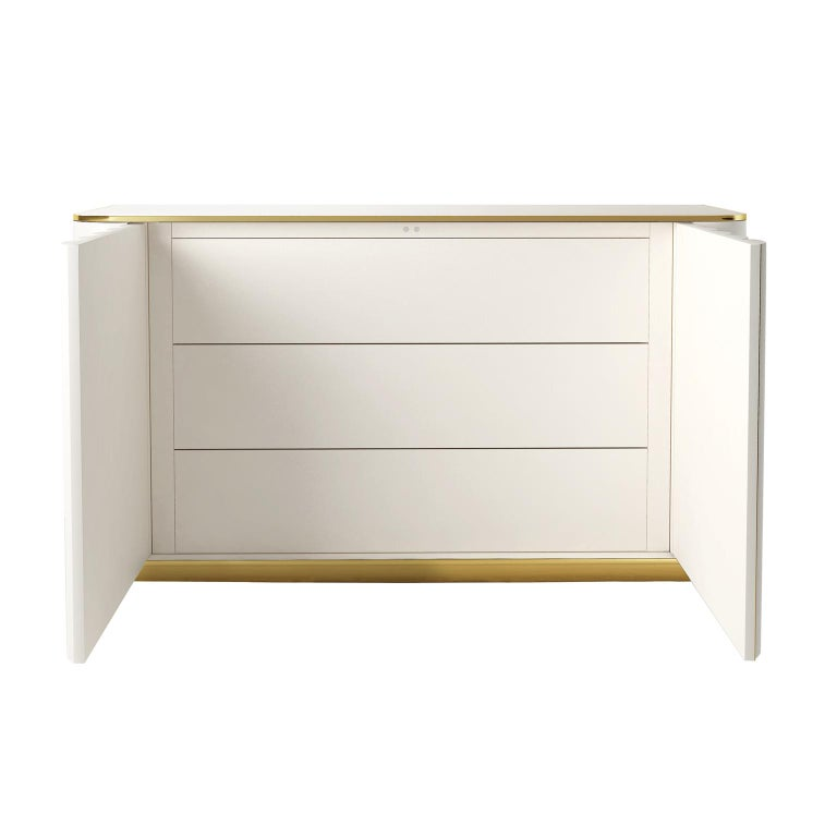 Modern Isabella Costantini, Italy, Duilio Dresser with Polished Brass For Sale