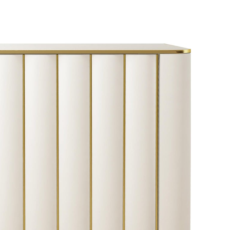 Italian Isabella Costantini, Italy, Duilio Dresser with Polished Brass For Sale