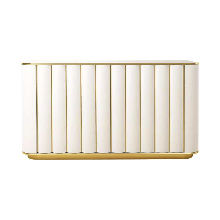Isabella Costantini, Italy, Duilio Dresser with Polished Brass For Sale