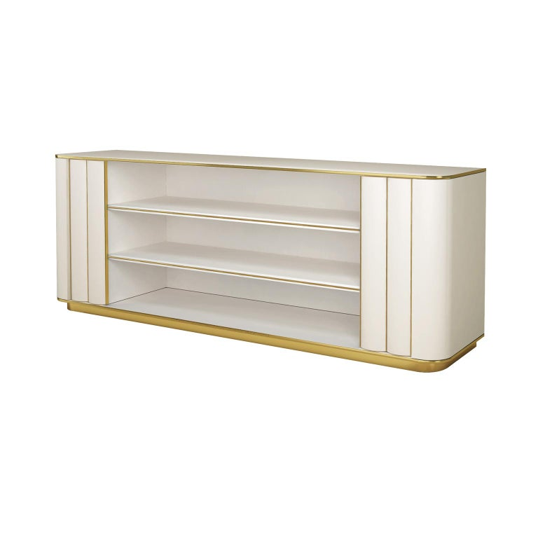 Modern Isabella Costantini, Italy, Duilio Low Bookcase with Two Doors For Sale