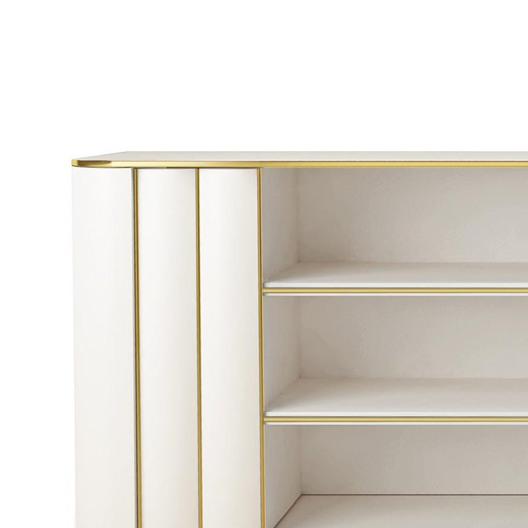 Italian Isabella Costantini, Italy, Duilio Low Bookcase with Two Doors For Sale