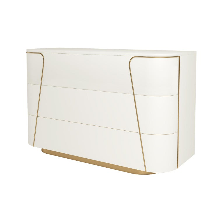 Modern Isabella Costantini, Italy, Gemma Dresser with Three Drawers For Sale