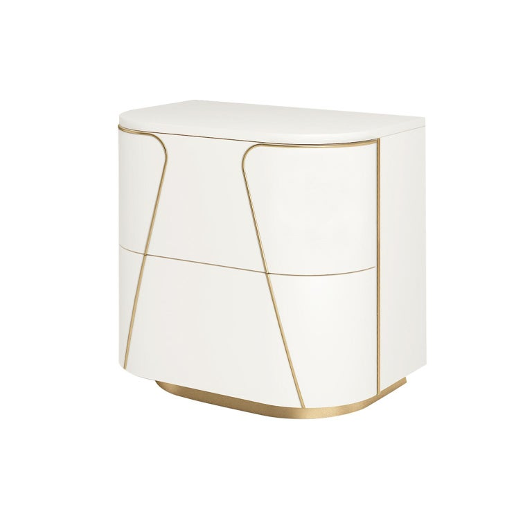 Modern Isabella Costantini, Italy, Gemma Nightstand with Two Drawers For Sale