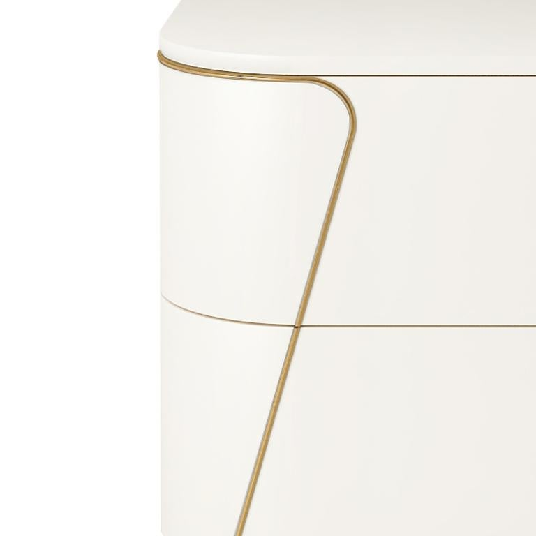 Italian Isabella Costantini, Italy, Gemma Nightstand with Two Drawers For Sale