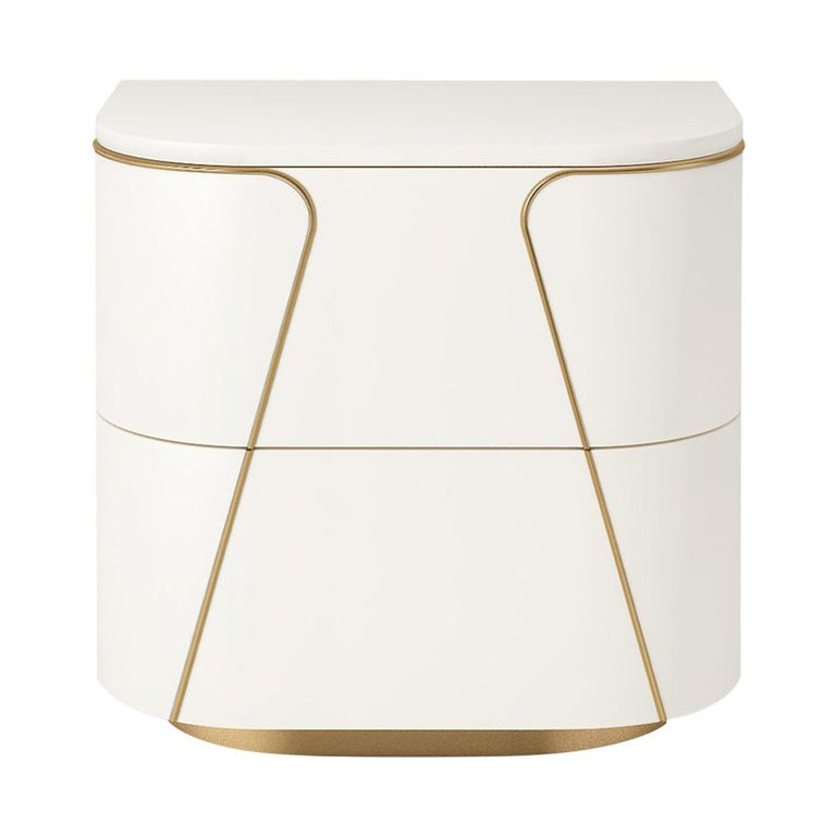 Isabella Costantini, Italy, Gemma Nightstand with Two Drawers For Sale