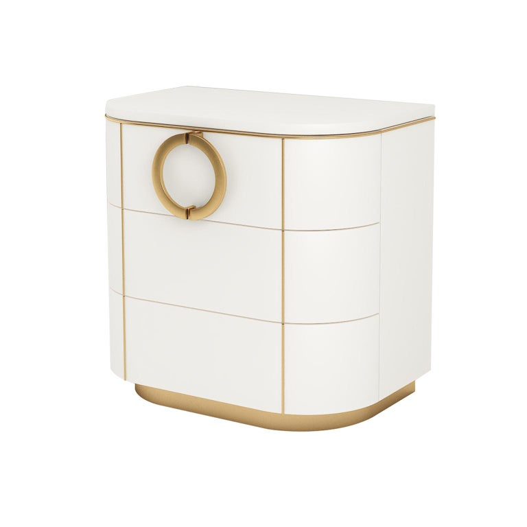 Modern Isabella Costantini, Italy, Maddalena Nightstand with Three Drawers For Sale