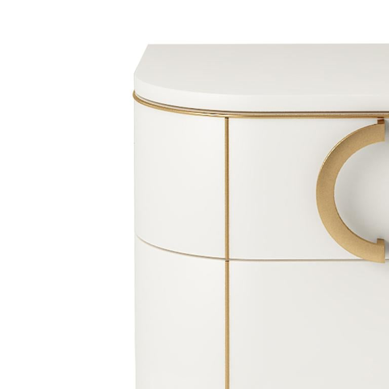 Italian Isabella Costantini, Italy, Maddalena Nightstand with Three Drawers For Sale